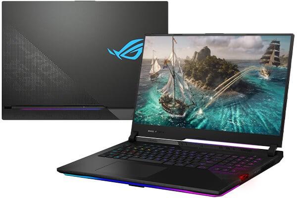 Laptop Asus Rog Strix Scar 17 G733Q R9 5900HX/32GB/1TB SSD/16GB RTX3080/Balo/Chuột/Win10 (HG021T)
