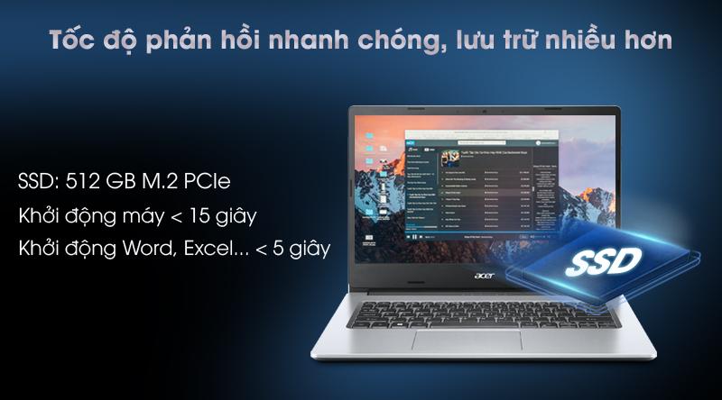 Acer Aspire 3 A314 35 P6JF N6000 (NX.A7SSV.003) - Ổ cứng SSD