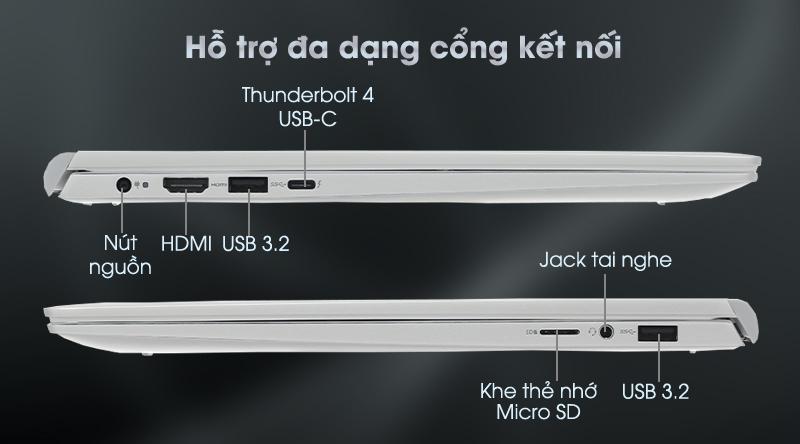 Dell Inspiron 7400 i5 1135G7 (N4I5206W) - Cổng kết nối