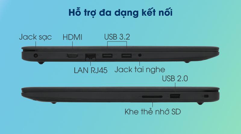 Laptop Dell Inspiron 3501 i5 (P90F005N3501B) - Cổng kết nối