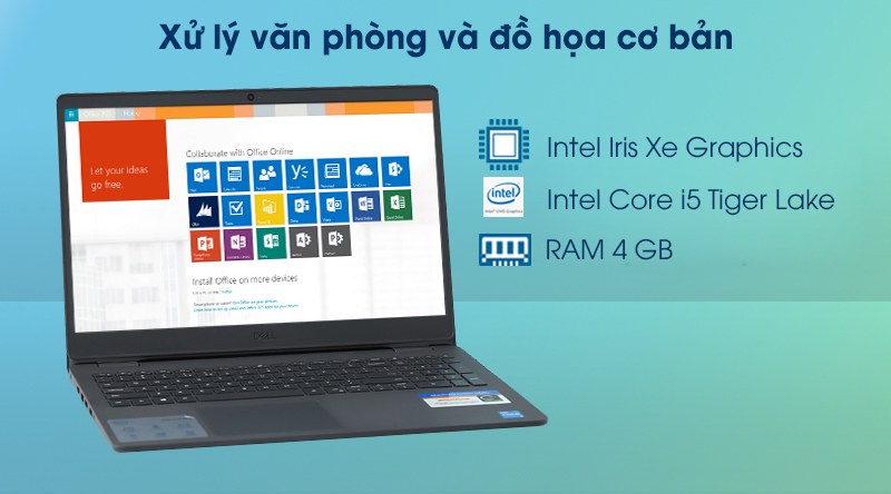 Laptop Dell Inspiron 3501 i5 (P90F005N3501B) - Cấu hình