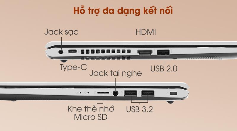 Laptop Asus VivoBook X415JA i5 (EK090T) - Kết nối