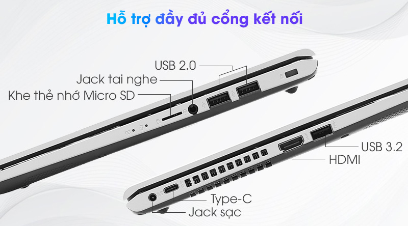 Laptop Asus VivoBook X415EA i3 (EK044T) - Cổng kết nối