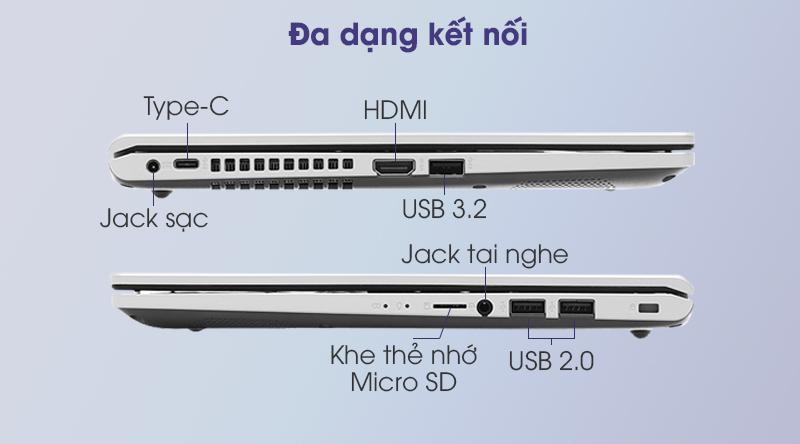 Laptop Asus VivoBook X415EA i5 (EK033T) - Kết nối