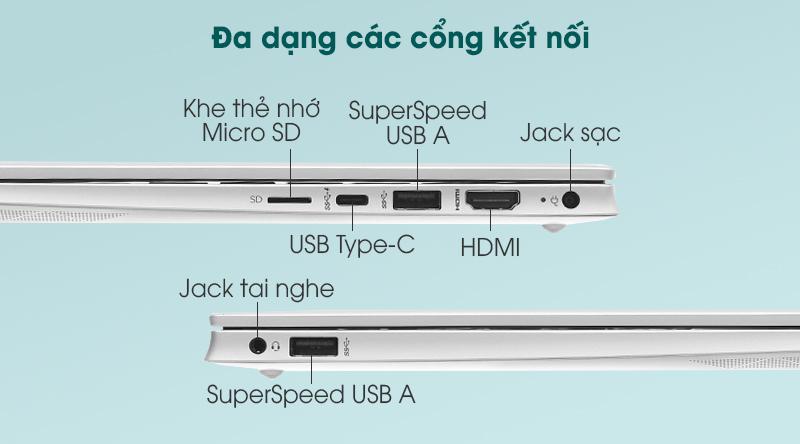 Laptop HP Pavilion 14 dv0041TU i3 (2H3L0PA) - Cổng kết nối