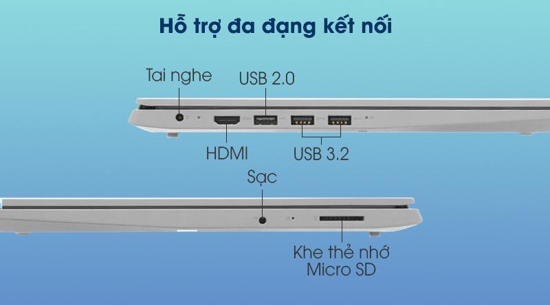Laptop Lenovo IdeaPad Slim 3 15IIL05 i3 (81WE0132VN) - Kết nối