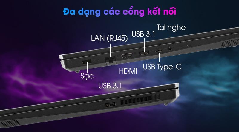 Lenovo Ideapad Gaming 3 15IMH05 i5 (81Y4013VVN) - Cổng kết nối
