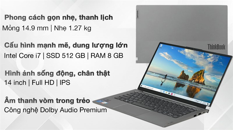 Lenovo ThinkBook 14s G2 ITL i7 1165G7 (20VA000MVN)
