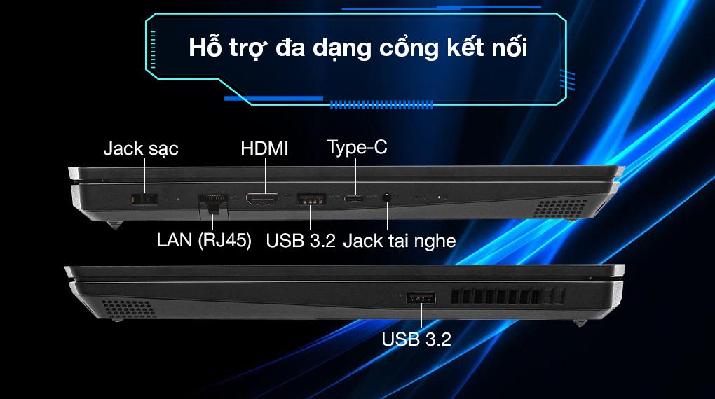 Lenovo Ideapad Gaming 3 (81Y4013UVN) - Cổng kết nối