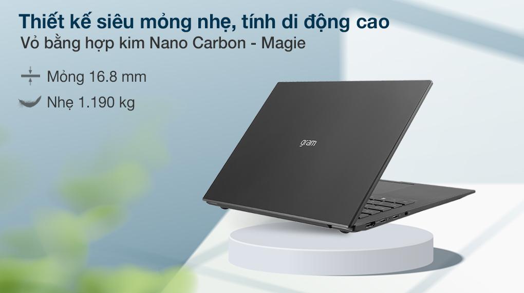 Laptop LG Gram 16 i7 1165G7 (16Z90P-G.AH75A5) - Thiết kế