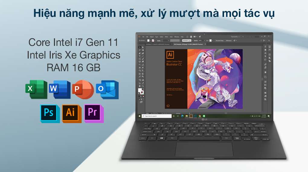 Laptop LG Gram 16 i7 1165G7 (16Z90P-G.AH75A5) - Cấu hình