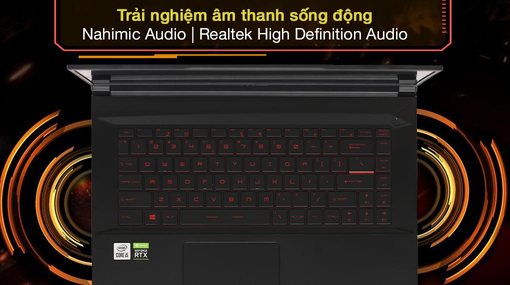 MSI GF65 Thin 10UE i5 10500H (297VN) - Âm thanh