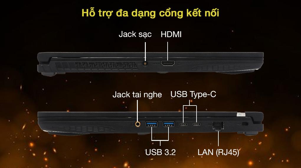 MSI GF65 Thin 10UE i5 10500H (297VN) - Cổng kết nối