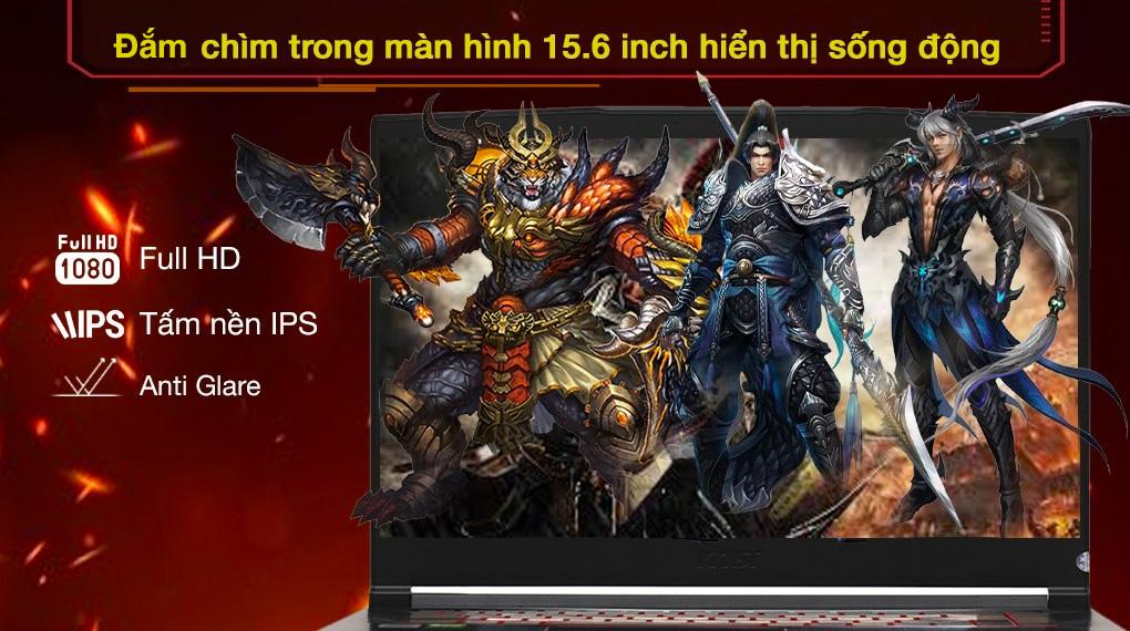 MSI Gaming GF65 Thin 10UE i5 - Màn hình