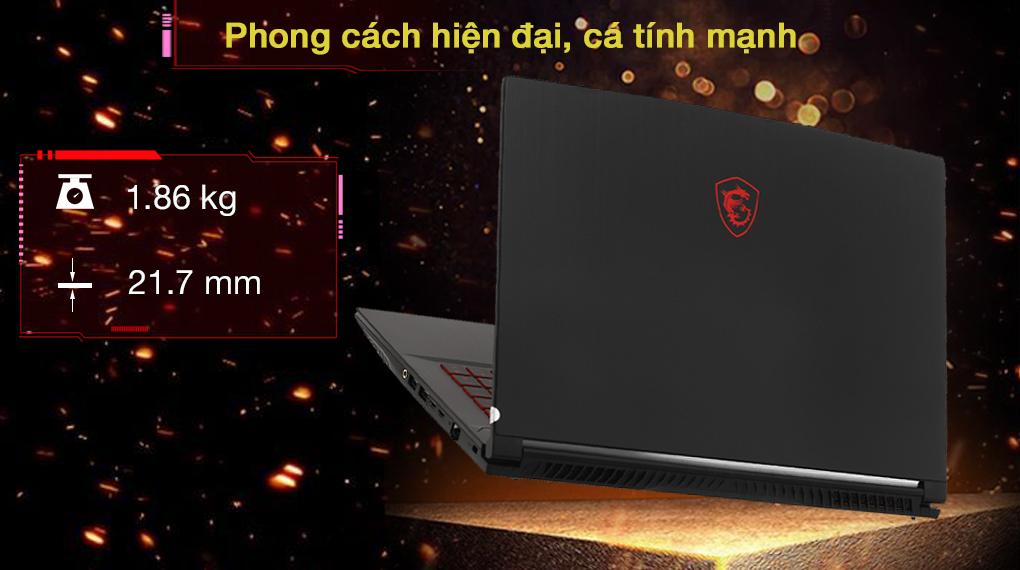 MSI GF65 Thin 10UE i5 10500H (297VN) - Thiết kế