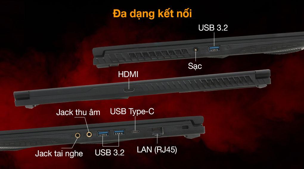 MSI GF63 10SC i5 10300H (255VN) - Cổng kết nối