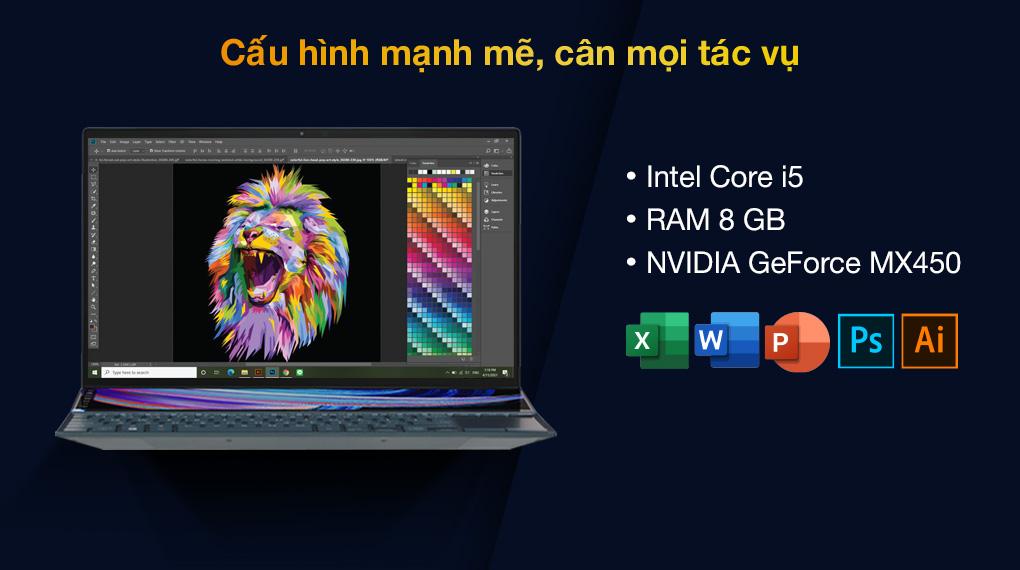 Asus ZenBook UX482EG i5 1135G7 (KA166T) - Cấu hình