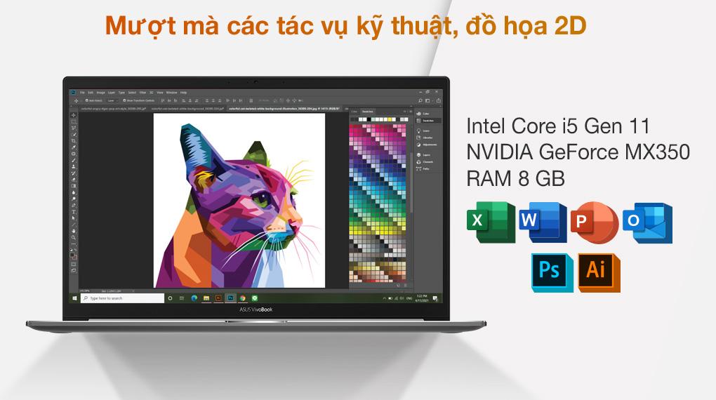 Asus VivoBook S533EQ i5 1135G7 (BN338T) - Cấu hình