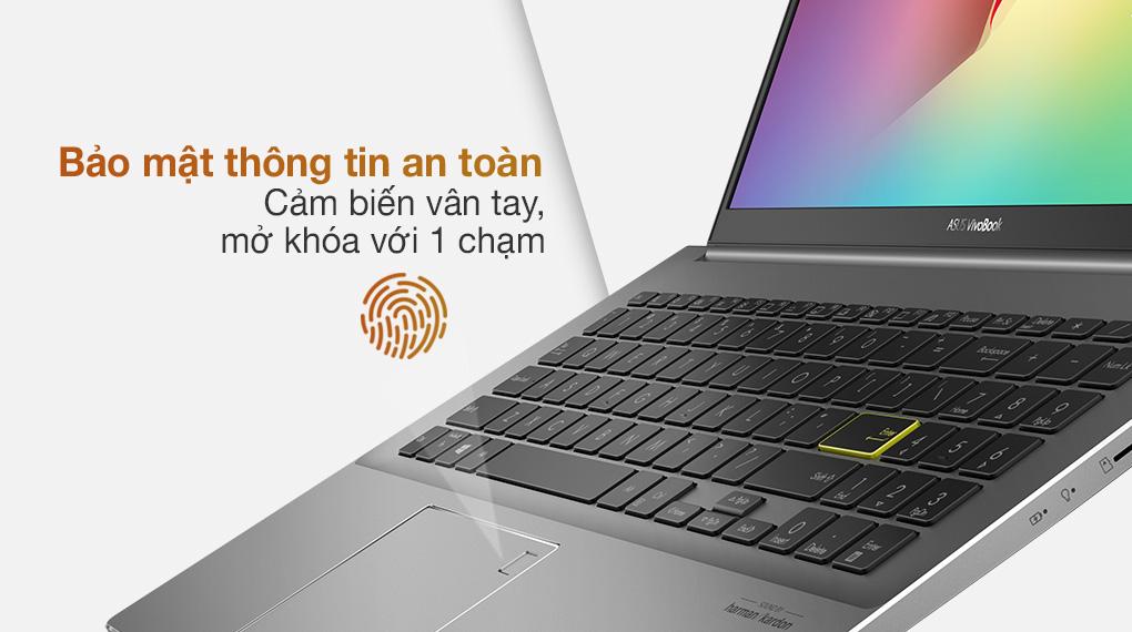 Asus VivoBook S533EQ i5 1135G7 (BN338T) - Cảm biến vân tay