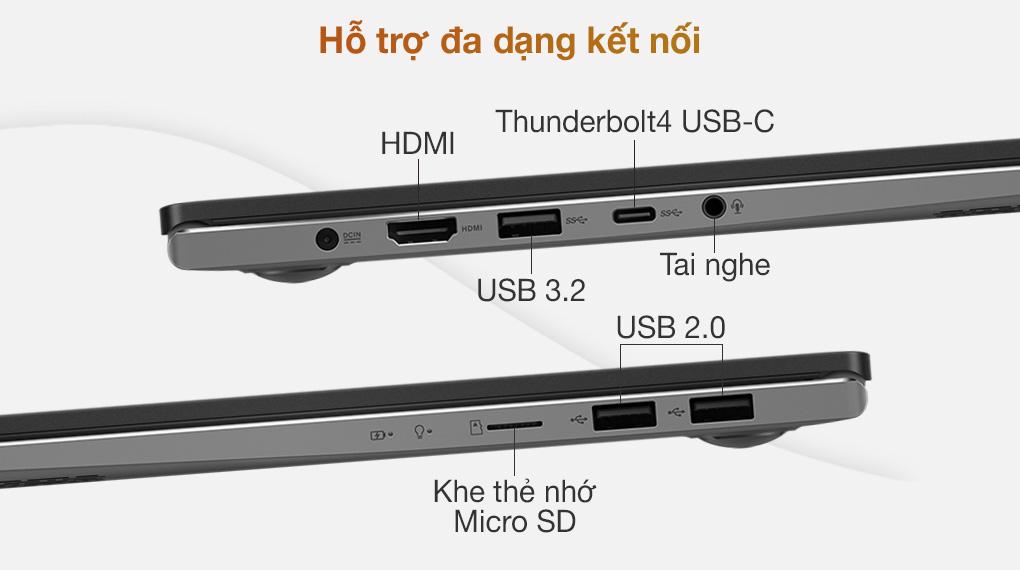 Asus VivoBook S533EQ i5 1135G7 (BN338T) - Cổng kết nối