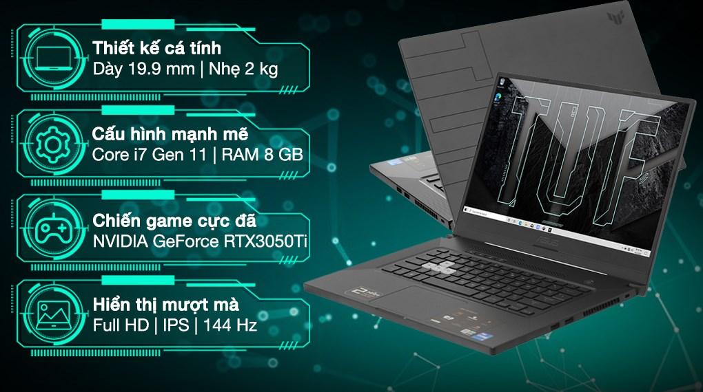 Asus TUF Gaming FX516PE i7 11370H (HN005T)