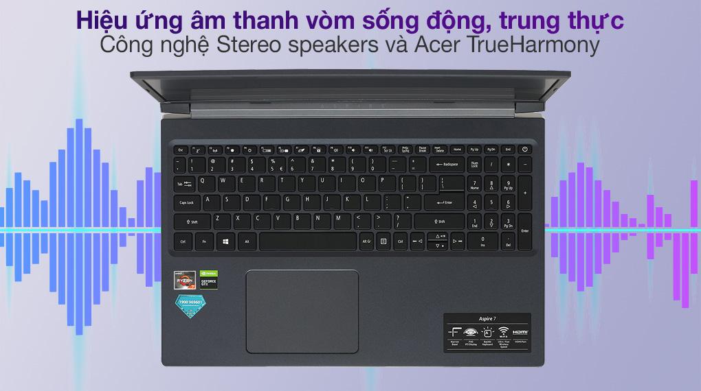 Acer Aspire 7 A715 41G R150 R7 3750H (NH.Q8SSV.004.) - Âm thanh