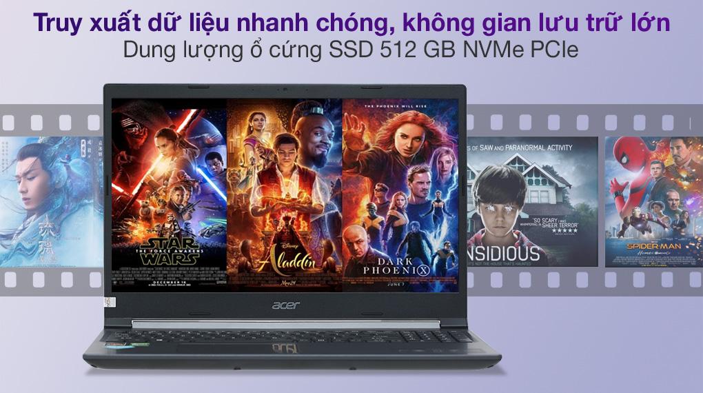 Acer Aspire 7 A715 41G R150 R7 3750H (NH.Q8SSV.004.) - SSD
