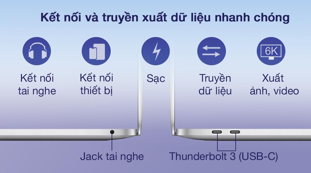 Apple MacBook Air M1 2020 (Z124000DE) - Cổng kết nối