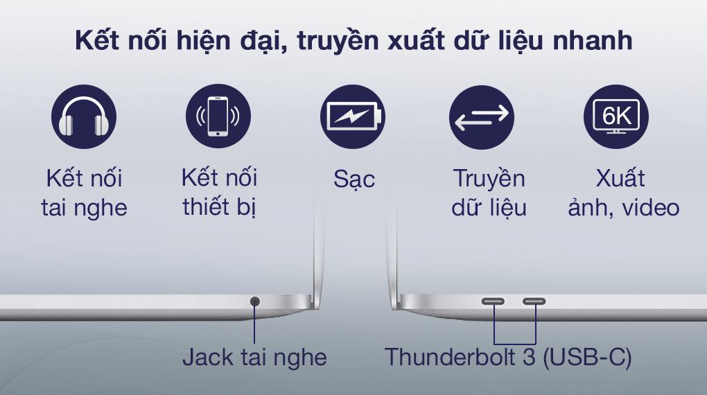 MacBook Pro M1 Silver (Z11D000E5) - Cổng kết nối