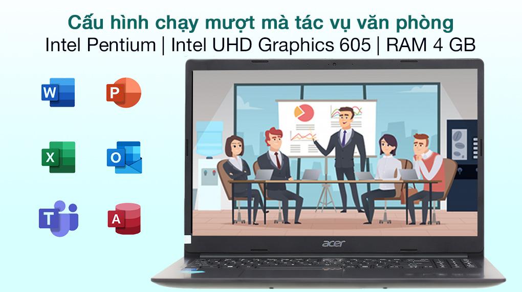 Acer Aspire 3 A315 34 P8VA N5030 (NX.HE3SV.00N) - Cấu hình