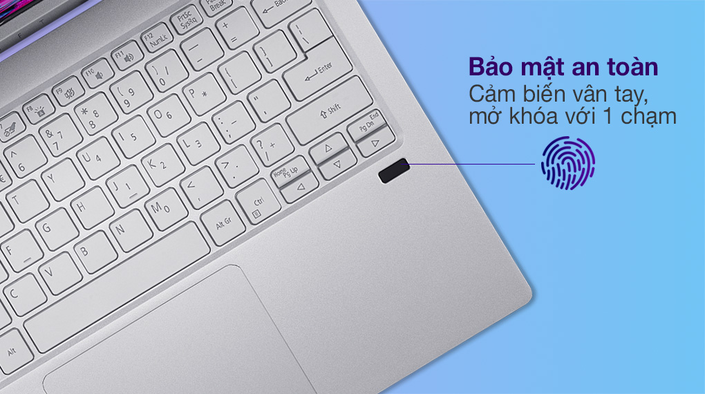 Acer Swift 3 SF313 53 518Y i5 1135G7 (NX.A4JSV.003) - Cảm biến vân tay