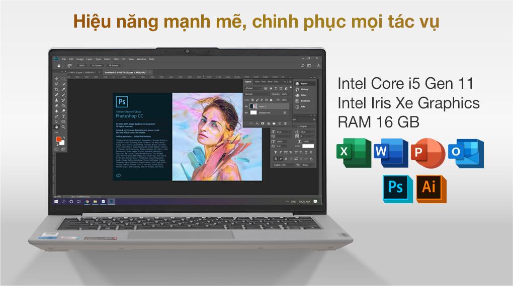 Lenovo IdeaPad 5 14ITL05 i5 1135G7 (82FE00KRVN) - Cấu hình