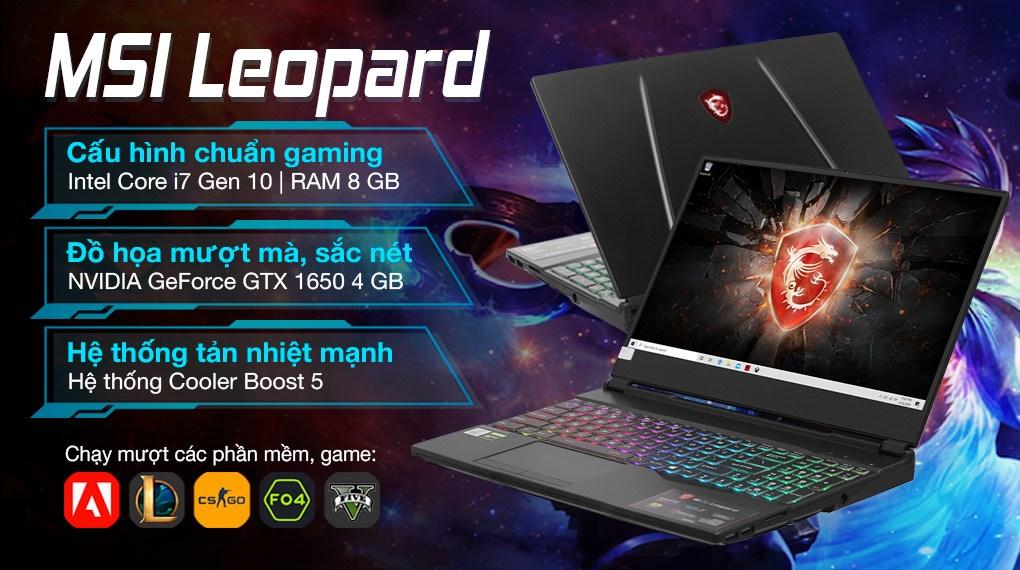 MSI Gaming GL65 Leopard 10SCXK i7 10750H (217VN)