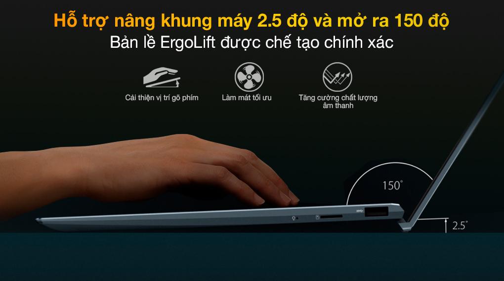 Asus ZenBook UX425EA i5 1135G7 (KI429T) - Bản lề ErgoLift