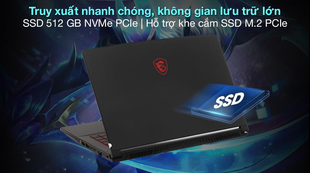 MSI GF65 10UE i7 10750H (228VN) - SSD