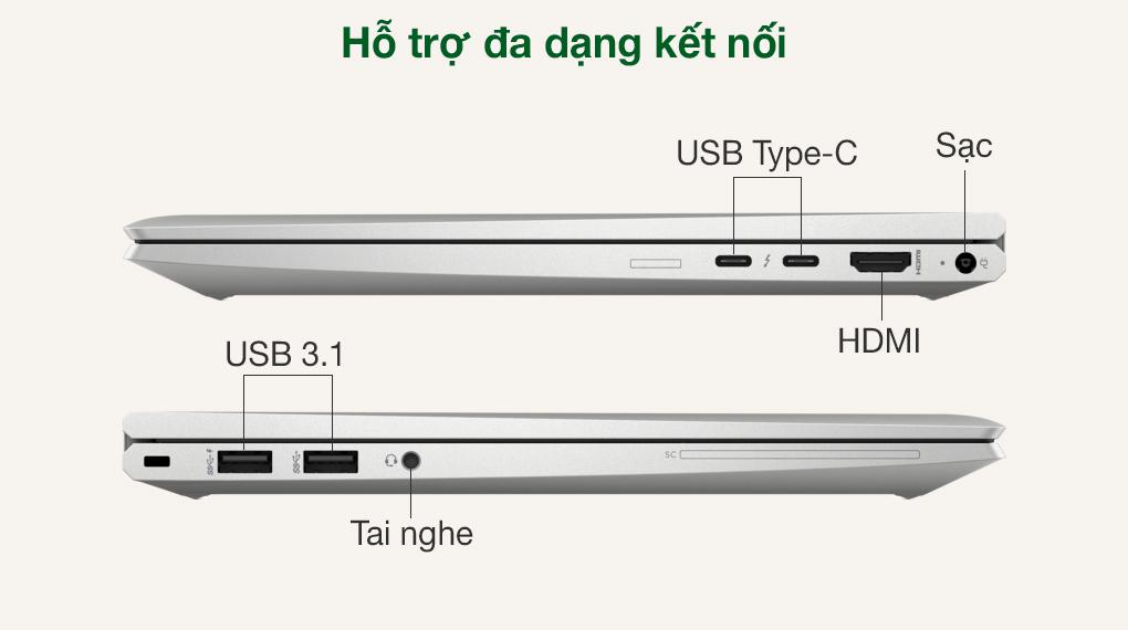 HP EliteBook X360 830 G8 i7 1165G7 (3G1A4PA) - Cổng kết nối