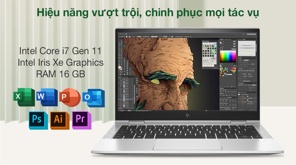 HP EliteBook X360 830 G8 i7 1165G7 (3G1A4PA) - Cấu hình