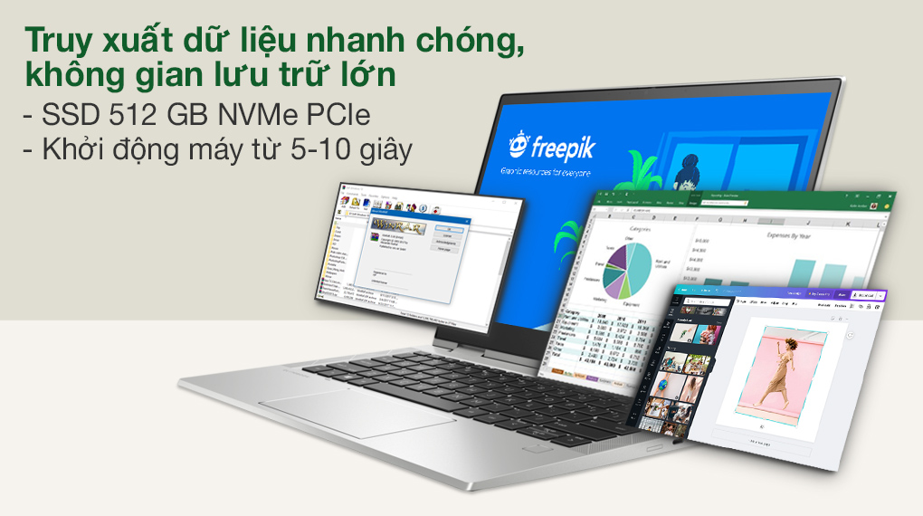 HP EliteBook X360 830 G8 i7 1165G7 (3G1A4PA) - SSD
