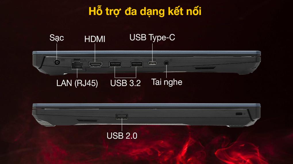 Asus TUF Gaming FX506LH i5 10300H (BQ046T) - Cổng kết nối
