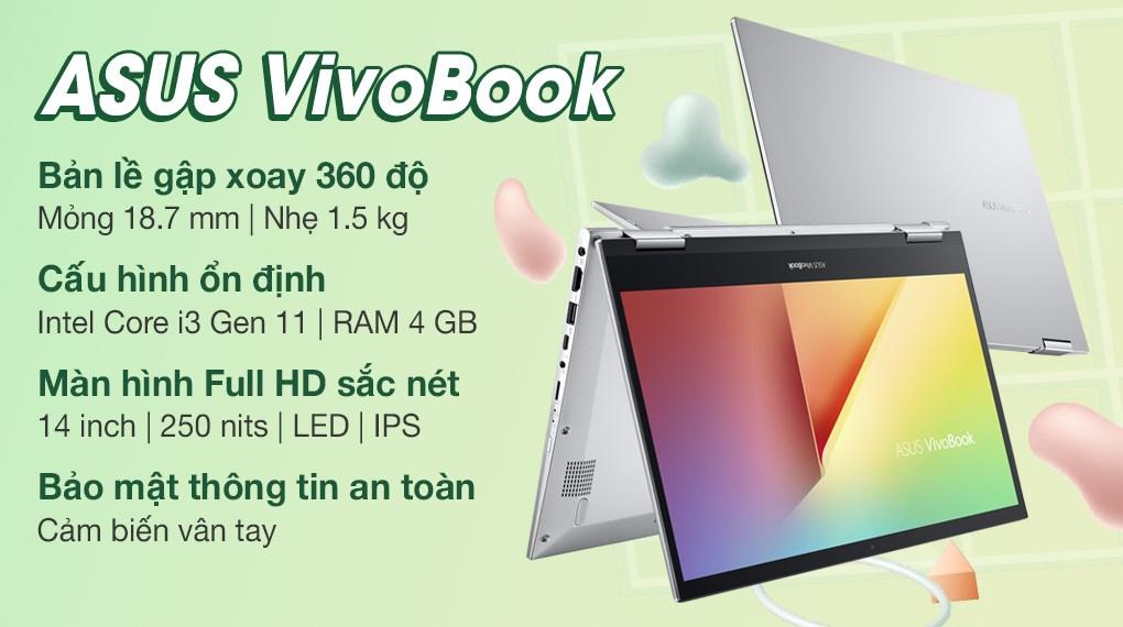 Asus VivoBook Flip TP470EA i3 1115G4 (EC027T)