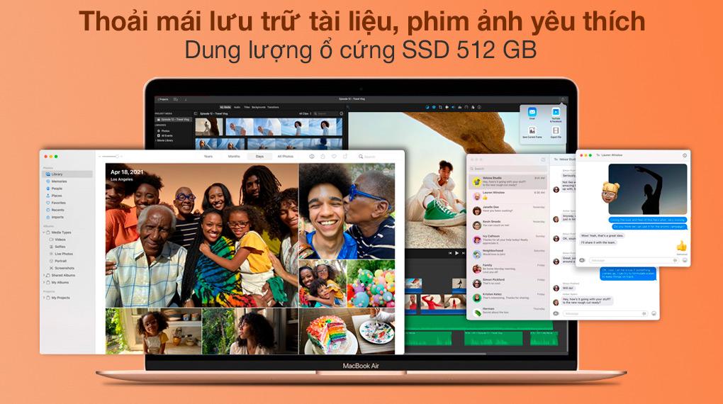 MacBook Air M1 2020 Gold (Z12A00050) - SSD