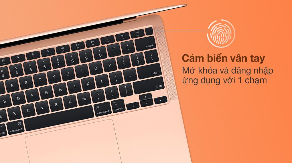 MacBook Air M1 2020 Gold (Z12A00050) - Cảm biến vân tay