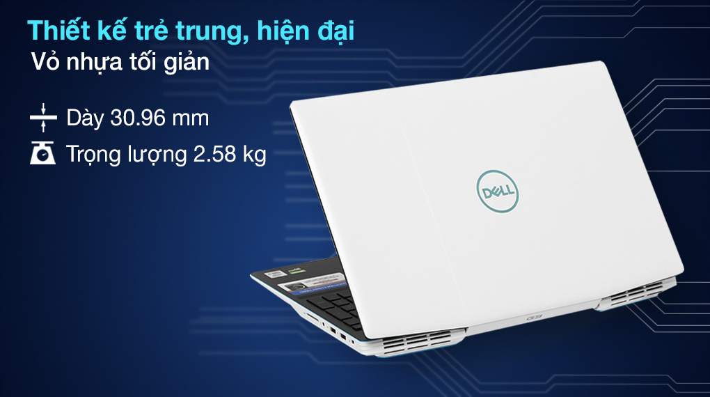 Dell G3 15 i7 10750H (P89F002BWH) - Thiết kế