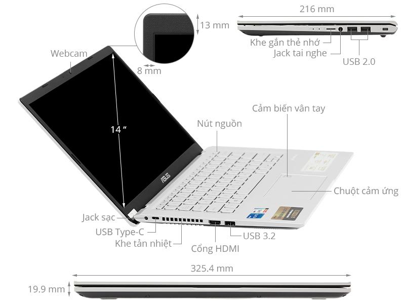 Asus VivoBook X415EA i5 1135G7/8GB/512GB/Win10 (EB262T)