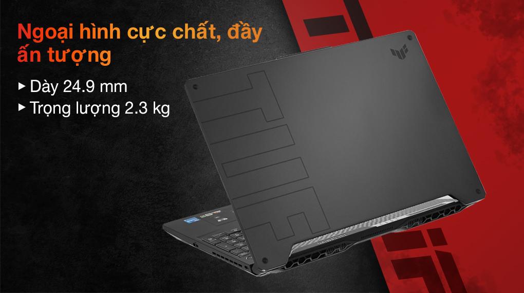 Asus TUF Gaming FX506HC i7 11800H (HN001T) - Thiết kế