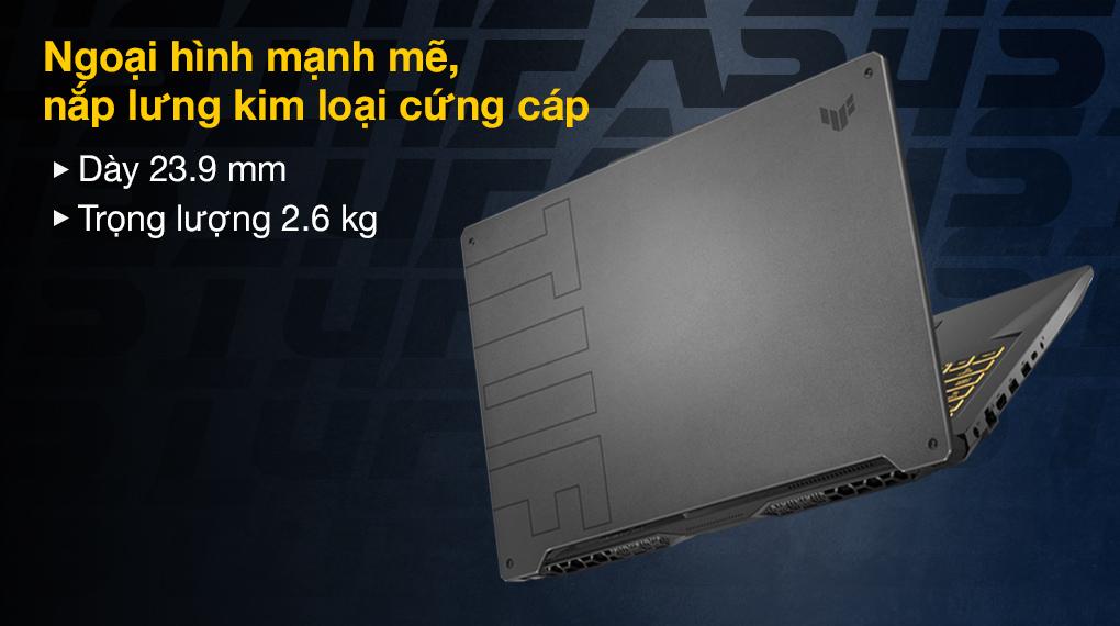 Asus TUF Gaming FX706HC i5 11400H (HX003T) - Thiết kế