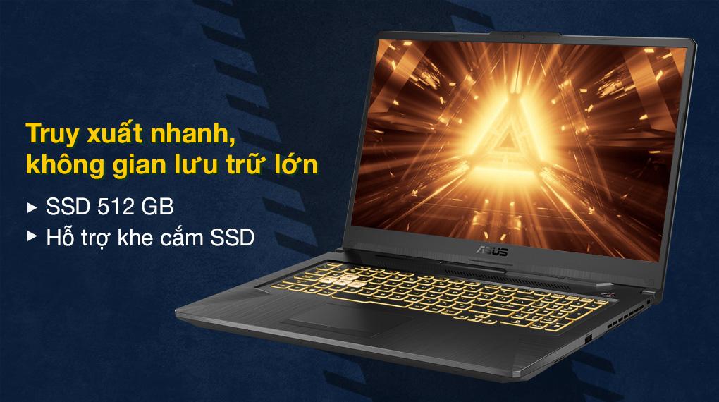 Asus TUF Gaming FX706HC i5 11400H (HX003T) - SSD