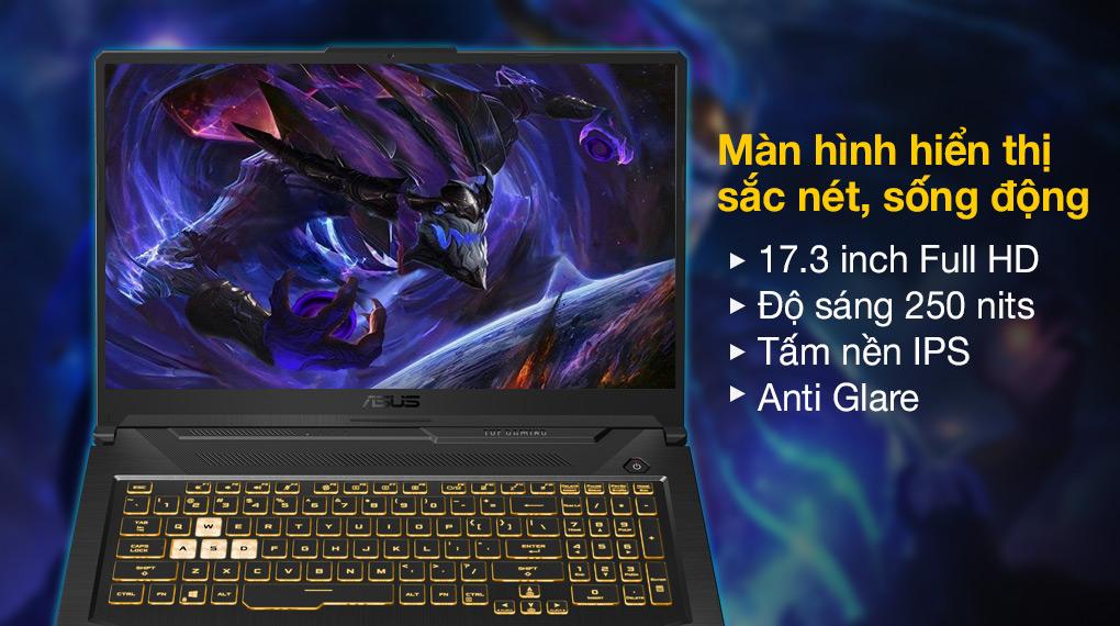 Asus TUF Gaming FX706HC i5 11400H (HX003T) - Màn hình