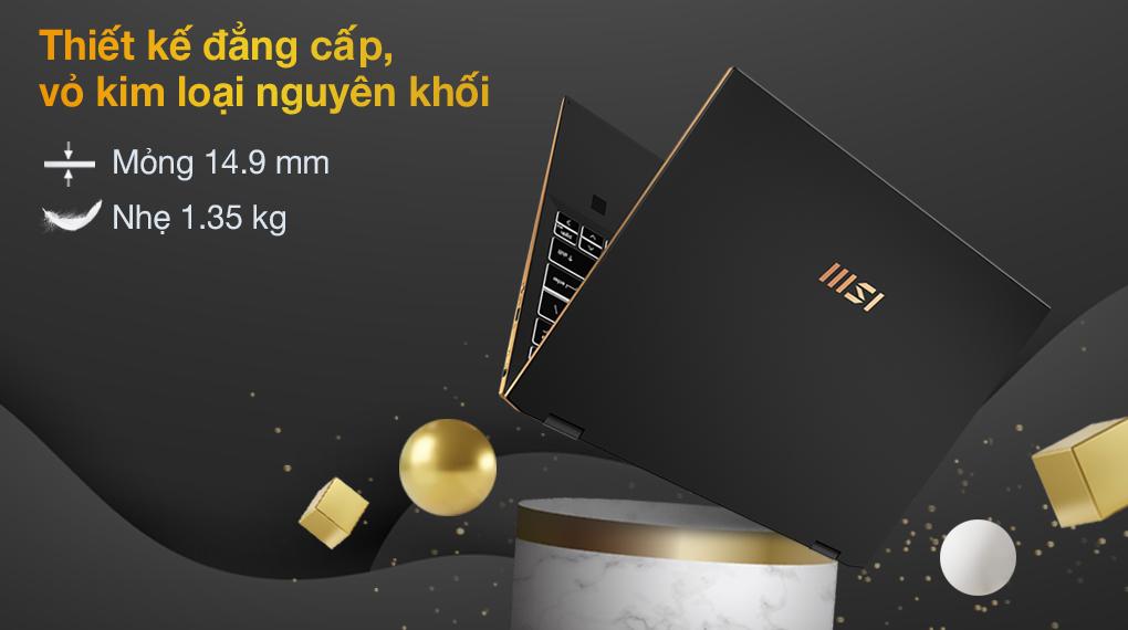 MSI Summit E13 Flip i7 1185G7 (211VN) - Thiết kế