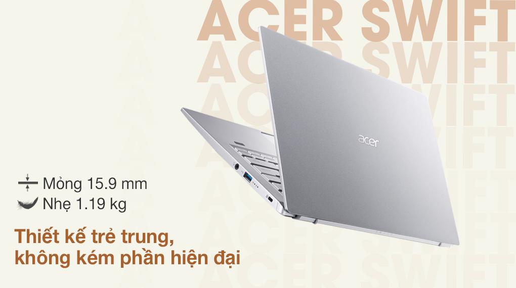 Acer Swift 3 SF314 511 56G1 i5 1135G7 (NX.ABLSV.002) - Thiết kế